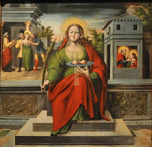 Les trois représentations de Sainte Agathe en peinture