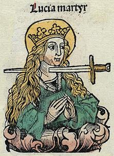 Sainte Lucie de Syracuse, ses représentations dans l'art